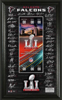 Atlanta Falcons  Super Bowl LI Signature Ticket Framed LE 5000