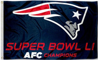 New England Patriots 2016 AFC Champions Super Bowl LI 3' x 5' Flag