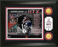 Atlanta Falcons 2016 NFC Champions Super Bowl LI 2pc Bronze Coin Photo Mint w/Season Scores LE 2,017