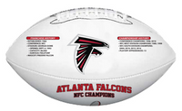 Atlanta Falcons 2016 NFC Champions and Super Bowl LI Wilson Leather Football w/Season Scores LE 5000