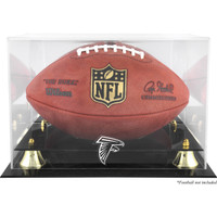 Atlanta Falcons Logo Acrylic Gold Riser Football Display Case