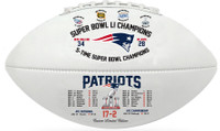New England Patriots 5 Time Champions Commemorative Football LE 5000