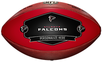Atlanta Falcons NFL Personalized Wilson Leather Football