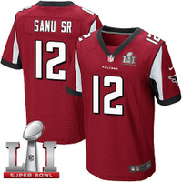 Atlanta Falcons Mohamed Sanu Nike Red Super Bowl LI Bound Game Jersey