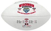 Wisconsin Badgers 2016 Cotton Bowl Champions Leather Football w/Scores LE 5000