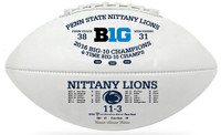 Penn State Nittany Lions 2016 Big 10 Champions Leather Football w/Scores LE 5000