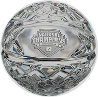 North Carolina Tar Heels 2017 NCAA National Champions Solid Mini Commemorative Crystal Basketball LE 5,000