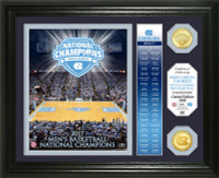 "North Carolina Tar Heels 2017 NCAA National Champions 2pc Bronze Coin ""Banner"" Photo Mint LE 5,000"