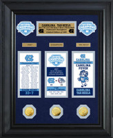 North Carolina 2017 NCAA Men's Basketball National Champions Deluxe 3pc Gold Coin and 3pc Ticket Collection LE 1,000