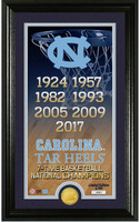 North Carolina Tar Heels 2017 NCAA Men's Basketball National Champions 7X Legacy Photo Mint LE  2,500