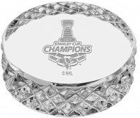 Pittsburgh Penguins 2017 NHL Stanley Cup Champions Solid Crystal Puck LE