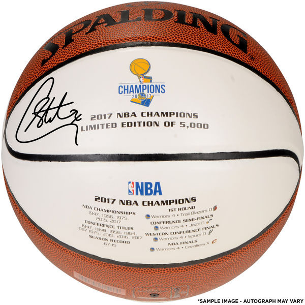 b7431852562b ... Stephen Curry Golden State Warriors Autographed 2017 NBA Finals  Champions Basketball - Limited Edition of 5
