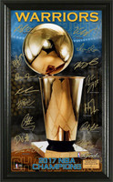 Golden State Warriors 2017 NBA Champions Signature Trophy Framed LE 5,000