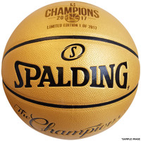 Golden State Warriors Authentic 2017 NBA Finals Champions Gold Basketball - Limited Edition of 2,017