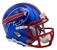 Buffalo Bills NFL Blaze Revolution Speed Riddell Mini Football Helmet