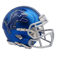 Detroit Lions NFL Blaze Revolution Speed Riddell Mini Football Helmet