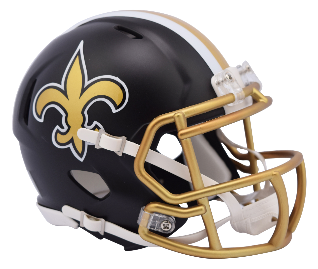83175946b76 ... New Orleans Saints NFL Blaze Revolution Speed Riddell Mini Football  Helmet. Image 1. Image 1
