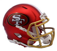 San Francisco 49ers NFL Blaze Revolution Speed Riddell Mini Football Helmet