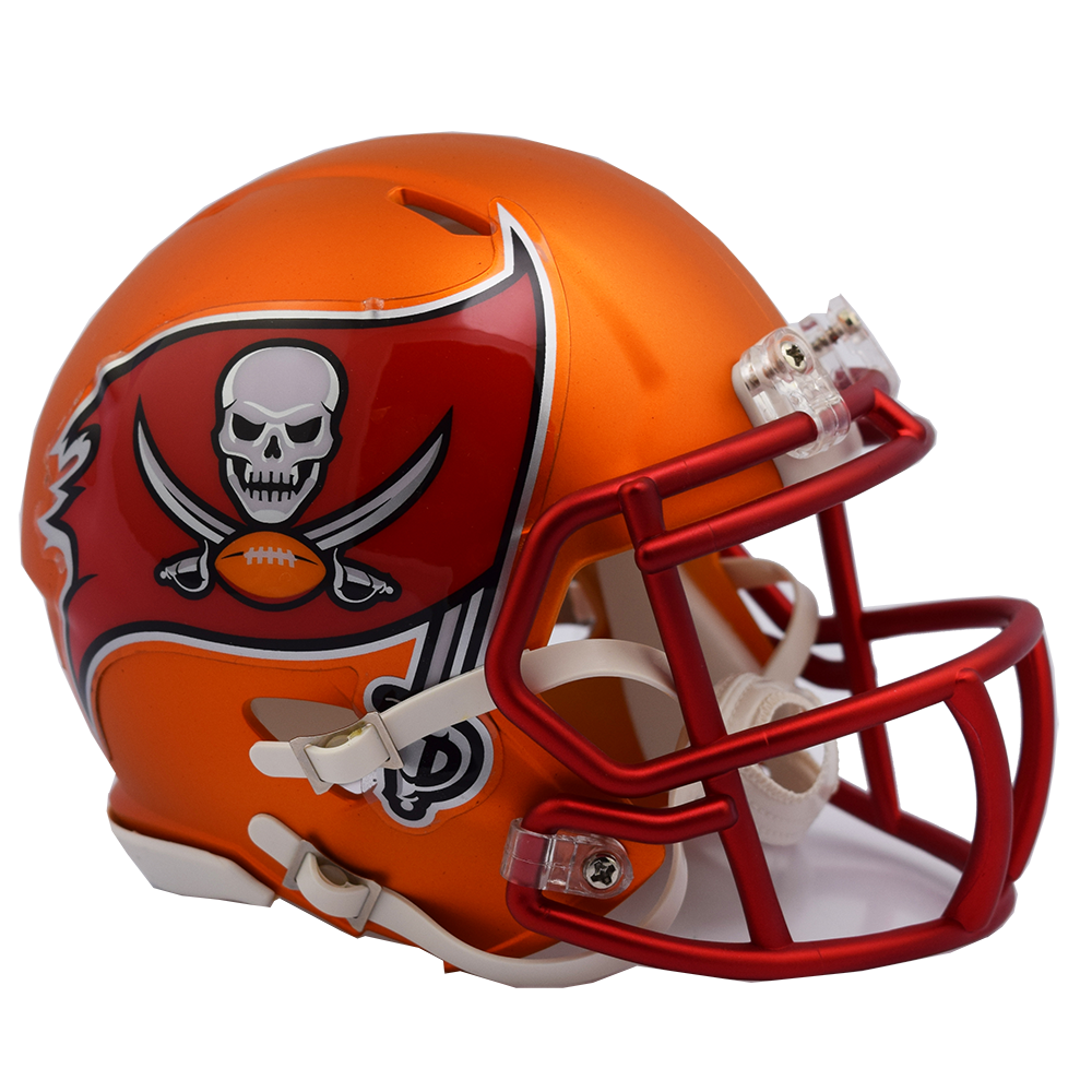 1648fb59d0b45 ... Tampa Bay Buccaneers NFL Blaze Revolution Speed Riddell Mini Football  Helmet. Image 1 · Image 1