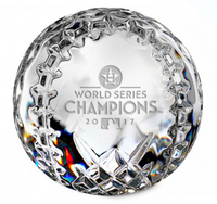 Houston Astros 2017 World Series Champions Solid Crystal Baseball LE 2017