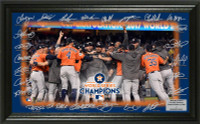 Houston Astros 2017 World Series Champions Celebration Signature Field Framed LE 5000