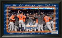 Houston Astros 2017 World Series Champions Celebration Signature Field Framed LE 5000
