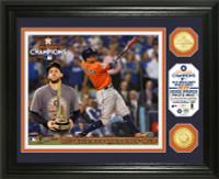 "Houston Astros 2017 World Series ""MVP"" Bronze Coin Photo Mint Framed LE 5000"