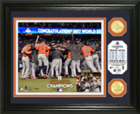 Houston Astros 2017 World Series Champions Celebration Bronze Coin Photo Mint Framed LE 5000