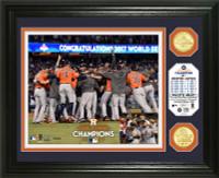 Houston Astros 2017 World Series Champions Celebration Bronze Coin Photo Mint Framed LE 5000