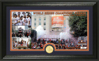 "Houston Astros 2017 World Series Champions ""11-3-2017 Parade"" Panoramic Bronze Coin Photo Mint Framed LE 5000"