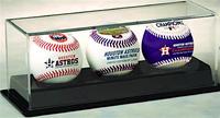 Houston Astros World Series Champions 3 Baseball Set w/Acrylic Display Case LE 5000
