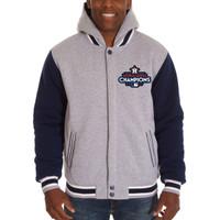 Houston Astros 2017 World Series Champions Reversible Two-Tone Fleece Full-Snap Jacket - Gray/Navy
