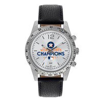 Houston Astros 2017 World Series Champions Leather Watch – Black