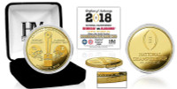 Alabama Crimson Tide 2018 CFP National Championship Dueling Commemorative 24k Gold Mint Coin LE 5,000