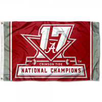 Alabama Crimson Tide 2017 CFP 17-Time National Championship 3' x 5' Flag