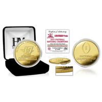 Alabama Crimson Tide 2017 CFP 17-Time National Championship 24k Gold Coin LE 5,000