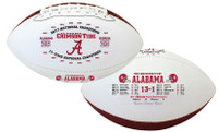 Alabama Crimson Tide 2017 CFP 17-Time National Championship Leather Football LE 5,000
