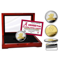 Alabama Crimson Tide 2017 CFP 17-Time National Championship Gold 2-Tone Coin w/Cherry Case LE 2,017