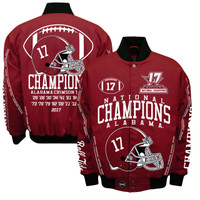 Alabama Crimson Tide 2017 CFP 17-Time National Championship Cotton/Twill jacket - Red