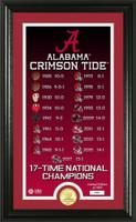Alabama Crimson Tide 2017 CFP 17-Time National Championship Legacy Bronze Coin Photo Mint LE 5,000