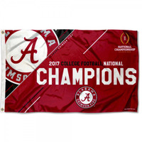 Alabama Crimson Tide 2017 Football National Championship 3' x 5' Flag