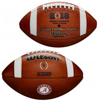 Alabama Crimson Tide 2017 CFP National Championship Playoff Wilson Leather Football