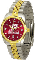 Alabama Crimson Tide 2017 CFP 17-Time National Championship Mens Executive 23k Gold Tone Watch