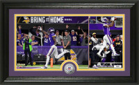"Minnesota Vikings Stefon Diggs ""Miracle in Minnesota"" Silver Coin Victory Photo Mint LE 5000"
