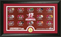 Alabama Crimson Tide 2017 CFP 17-Time National Championship Seasons Pano Bronze Coin Photo Mint LE 5,000