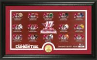 Alabama Crimson Tide 2017 CFP 17-Time National Championship Seasons Pano Bronze Coin Photo Mint LE 5,000