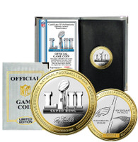 NFL Super Bowl LII Official 2-Tone Gold and Silver Flip Coin LE 10,000