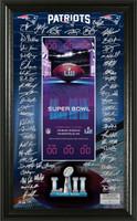 New England Patriots Super Bowl LII Signature Ticket Framed LE 5,000