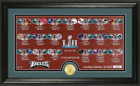 Philadelphia Eagles Super Bowl LII Champions Bronze Coin Seasons Print Framed LE 5,000
