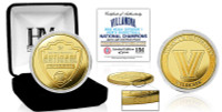 Villanova 2018 NCAA Men's Basketball National Champions 24k Gold Coin w/Case LE 1,000